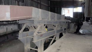 "INCLINED VIBRATORY PAN CONVEYOR, CARRIER, approx. 60' x 48""W. x 14"" dp. (Location F: 2412 Eulaton"