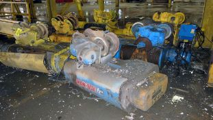 LOT OF UNDERHUNG WIRE ROPE HOISTS (6), 15 T. cap., pwr. trolley (Location A: 1401 N Decatur