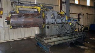 "SLITTING LINE, PAXON 60""W., approx. 6"" arbor dia., entry pinch roll, flip-up threading table,"