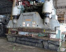 HYDRAULIC PRESSBRAKE, VERSON 500 T. CAP. MDL. H500-12, 16' overall length of bed & ram, 12""