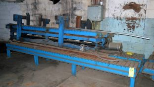 "LOT CONSISTING OF: assorted 12"" roller conveyor & shear blades, 90 deg. pwr. turn-around (Location"