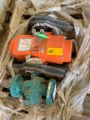"""LOT CONSISTING OF: PBV 2"""" 600# FULL PORT BALL VALVE, WITH RACK AND PINION ACTUATOR AND TOPWORX DXP-"""