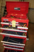 ROLLING TOOL BOX, U.S. GENERAL, 16-drawer, w/tools.