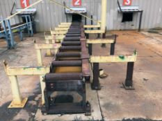 """POWERED PIPE FEEDING SYSTEM, 30', 24"""" rollers"""