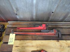 "LOT OF PIPE WRENCHES (2), 36"" & 24"", assorted"