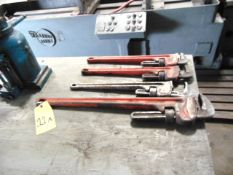 "LOT OF PIPE WRENCHES (4), (1) 36"" & (3) 24"", assorted"