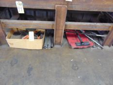 LOT OF HAND TOOLS & MISC., assorted (under six benches)