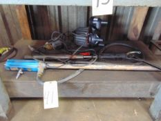 LOT OF PUMPS, assorted (under one table)