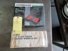 LOT CONSISTING OF: (32 pc.) screwdriver set & (40 pc.) socket wrench set (new in box)
