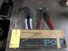 LOT CONSISTING OF: (1) H.D. pop rivet gun & (2) pop rivet guns