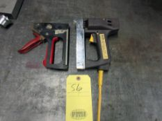LOT OF STAPLERS (2) (1) ELECTRIC, (1) MANUAL