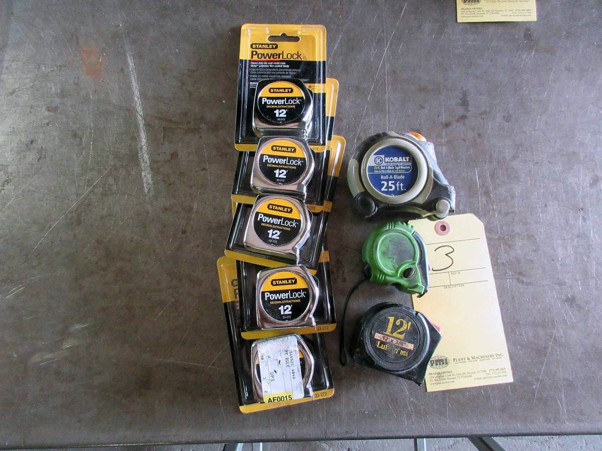 Lot 3 - LOT OF TAPE MEASURES: (5) 7 x 12' & 1 x 25' (new) & (3) used