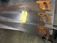 LOT OF HAND SAWS (3)