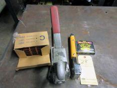 "LOT CONSISTING OF: San Jacinto 5/8"" stapler w/box of staples & 9/16"" slap stapler"
