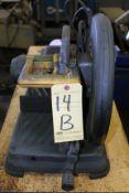 """ABRASIVE CHOP SAW, DEWALT 14"""" MDL. 320545, 1,300 RPM"""