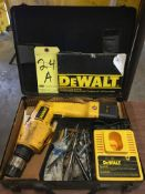 CORDLESS DRILL, DEWALT, MDL. DW944, W/CHARGER AND CASE