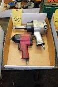 LOT OF PNEUMATIC IMPACT WRENCHES, 3/4 & 1/2 drive