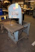 """VERTICAL BANDSAW, ROLL-IN MDL. EF-1459, 14-1/2"""" cap., 9"""" blade travel, 18-1/2"""" x 30"""" precision"""