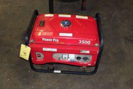 PORTABLE GENERATOR, POWER PRO, 3,500 watt, 6-1/2 HP motor, gas pwrd.