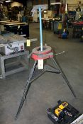 LOT CONSISTING OF: Reed Mdl. R450 tri-stand pipe vise, fish tape, conduit bender