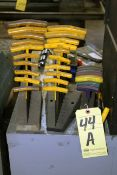 LOT OF T-HANDLE ALLEN WRENCHES
