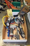 LOT CONSISTING OF: pneumatic tools, palm sanders, reciprocating saw & stapler