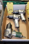 LOT OF PNEUMATIC IMPACT WRENCHES, 1/2 drive