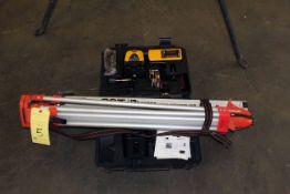 LOT CONSISTING OF: surveying transit, Digital Laser Mdl. LM30 lasermark, receiver, tripod, height