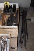 LOT CONSISTING OF: punches, chisels & pry-bars