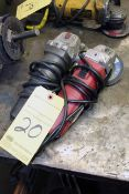 LOT OF ANGLE GRINDERS: Porter-Cable & Skil