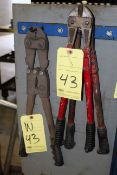 LOT CONSISTING OF: bolt cutters & crimping plier