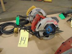 "LOT OF CIRCULAR SAWS (2), 7-1/4"", assorted"