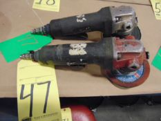 LOT OF PNEUMATIC RIGHT ANGLE GRINDERS (2), 4""