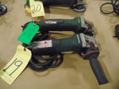 LOT OF ELECTRIC RIGHT ANGLE GRINDERS (2), METABO 4""
