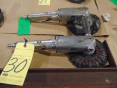 LOT OF PNEUMATIC RIGHT ANGLE GRINDERS (2), 7""