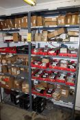 LOT OF WELDING PARTS, new misc. (on three shelves, lg. qty.) (Ft. Worth, TX)