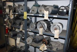 LOT OF ELECTRIC MOTORS, new (on two shelves) (Ft. Worth, TX)