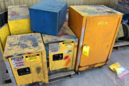 LOT OF FLAMMABLE LIQUID STORAGE CABINETS, JUSTRITE (Ft. Worth, TX)