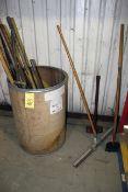 LOT CONSISTING OF: shop brooms & shovels (Ft. Worth, TX)