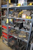 LOT OF SHOP EQUIPMENT, misc. (on three shelves) (Ft. Worth, TX)