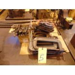 LOT CONSISTING OF: C-clamps, bar clamps, Kant twist clamps, locking clamps