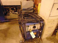 TIG WELDER, MILLER MDL. DIALARC HF, 300 amps, foot pedal, chiller, TIG torch, S/N JA396276