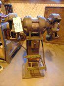 ELECTRICAL TOOL PEDESTAL GRINDER, STANDARD, 1 HP motor, on cast iron base