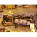 """LOT CONSISTING OF: 9"""" right angle grinder & die grinder, assorted grinding discs"""