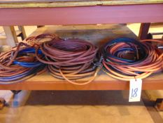 LOT OF AIR HOSE, assorted (under one table