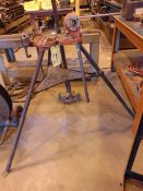 LOT CONSISTING OF: Ridgid tri-stand, pipe threader, (3) assorted conduit benders