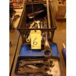 LOT OF WRENCHES, assorted (in two boxes