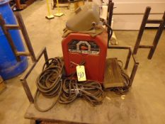 WELDING MACHINE, LINCOLN MDL. AC225, sgl. phase, 230 v., 60 cycle, 225 amp output, portable