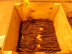LOT OF TAPER SHANK DRILLS, assorted (in one box)