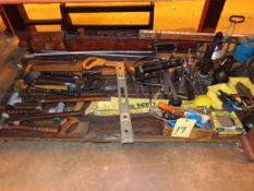 LOT CONSISTING OF: assorted hand tools & misc. (under one table)